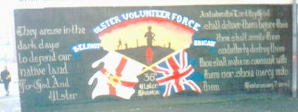 Depite murals like this one in Sandy Row, Belfast, how British is Ulster preceived by 'fellow Britons' in Great Britain?